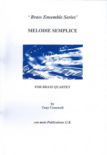 Melodie Semplice, brass quartet score only