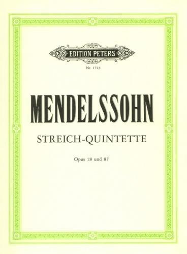 String Quintets Op.18 & Op.87 (set of parts)