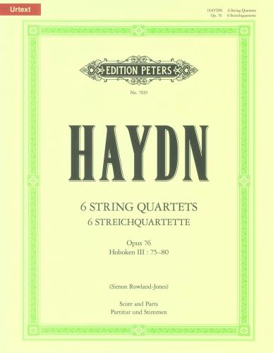 The 6 String Quartets Op.76 (Full Score & Parts) Urtext