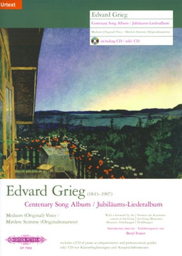 Grieg Centenary Song Album - Medium (Original) Voice, with coaching CD