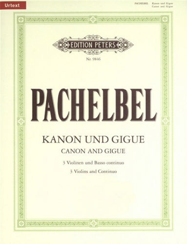 Johann Pachelbel: Canon & Gigue in D for 3 Violins & Continuo (Urtext)