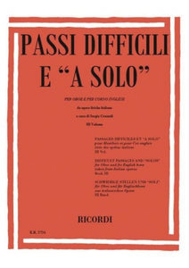 Passi difficili (Orchestral Excerpts) for Oboe, Volume 3