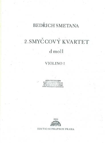 Bedrich Smetana: String Quartet in D Minor Set of Parts