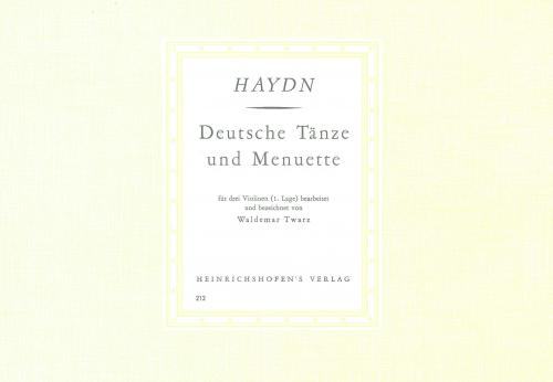 Haydn: German Dances and Minuet for 3 violins