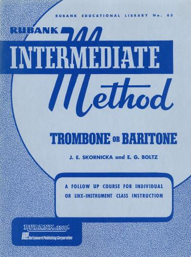 Intermediate Method for Trombone or Baritone