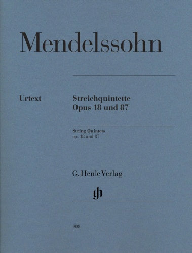 Felix Mendelssohn: String Quintets Op. 18 & 87 (Set of Parts)
