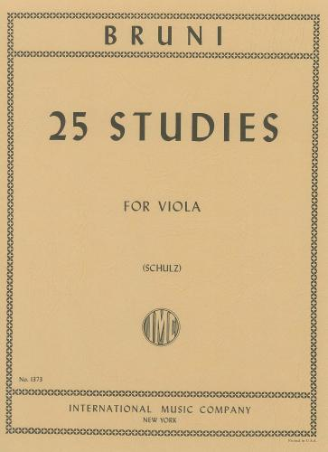 Antonio Bartolomeo Bruni: 25 Studies for Viola