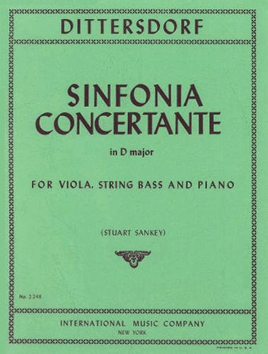 Sinfonia Concertante in D Major (Viola & Double Bass) Reduction