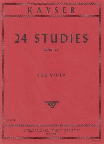 Kayser: 24 Studies Op.55 for Viola (Viola Solo)