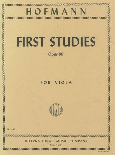Hofmann: First Studies (in the 1st Position), Op.86 (Viola Solo)