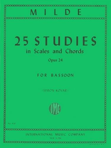 Ludwig Milde: 25 Studies in Scales & Chords, Op.24 (Bassoon)