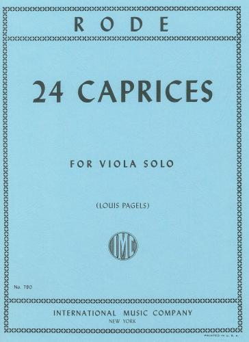 Jacques P. Joseph Rode: 24 Caprices (Pagels) (Viola Solo)