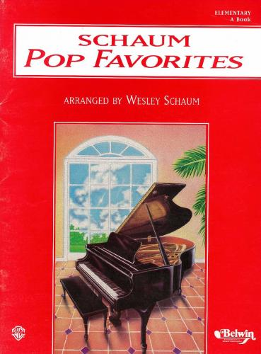 Schaum Pop Favorites: Elementary A Book (Piano Tutor)