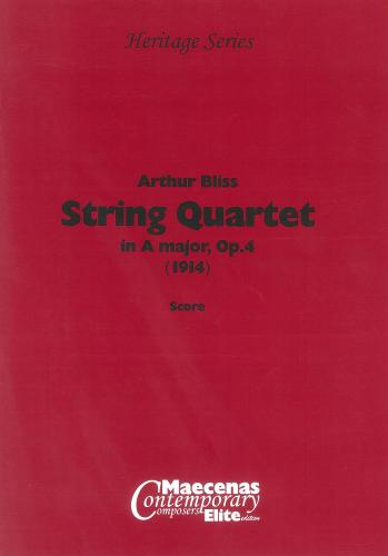 Arthur Bliss: String Quartet in A major Op.4 (Score)
