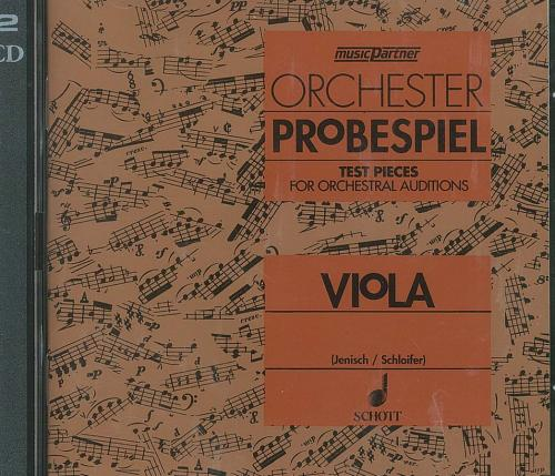 Viola Test Pieces for Orchestral Auditions (Orchester Probespiel) CD