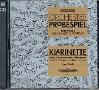 Clarinet Test Pieces for Orchestral Auditions (Orchester Probespiel) CD