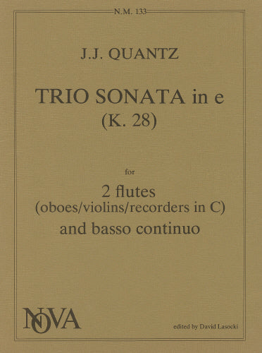 Trio Sonata in E minor (K.28) by Quantz (Two Flutes & Piano)