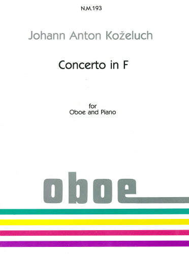 Kozeluch: Concerto in F by Kozeluch for Oboe & Piano