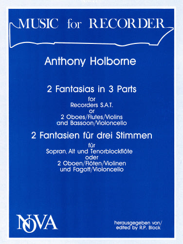 Anthony Holborne: Two Fantasias in 3 Parts (Recorder Trio)