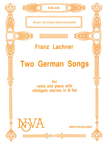 Franz Lachner: Two German Songs: Now Superceeded by EMA119