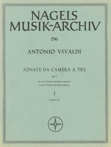 Antonio Vivaldi: Sonate Da Camera Op. 1 No. 1-6 for 2 Violins & BC
