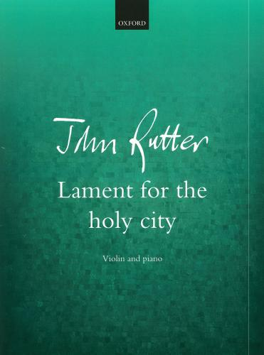 Lament for the Holy City for Violin & Piano