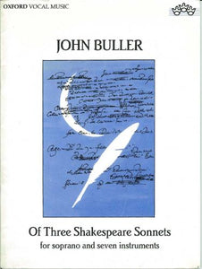 Of Three Shakespeare Sonnets (Full Score)
