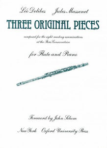 Three Original Pieces, Flute & Piano, Delibes arr. Massenet