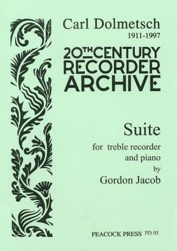 Gordon Jacob: Suite for Treble Recorder and Piano