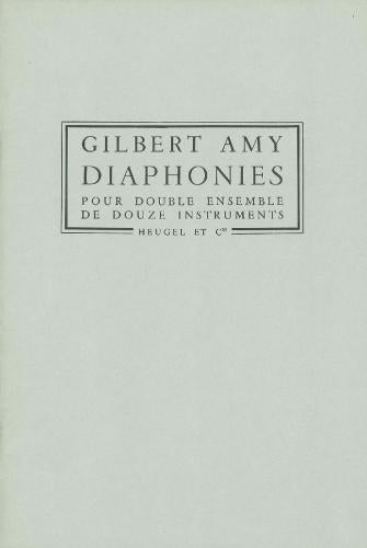 G. Amy: Diaphonies (PH254)