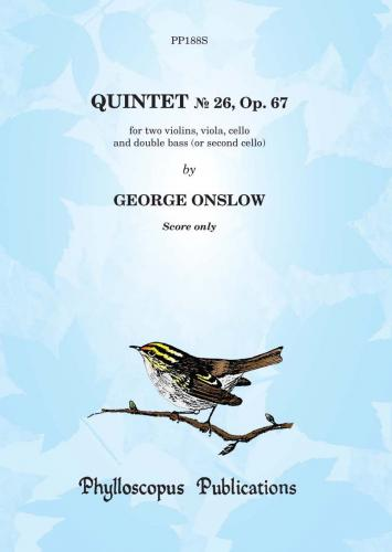George Onslow: Quintet No. 26, Op. 67  -  Score only
