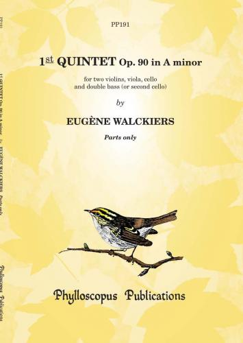 Eugène Walckiers: 1st Quintet Op. 90 in A minor - Parts only