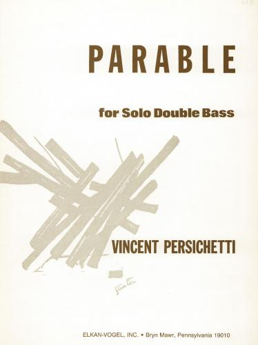 Vincent Persichetti: Parable XVII, Op.131 (Double Bass Solo)