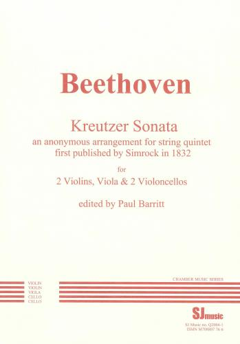 Ludwig van Beethoven: 'Kreutzer' Sonata (arr. String Quintet) Set of Parts