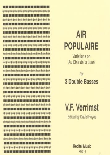 Air Populaire Variations on 'Au Clair de la Lune' ( Double Bass Trio )