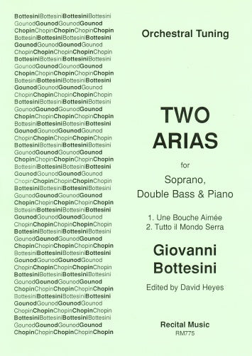 Giovanni Bottesini: Two Arias - orchestral tuning