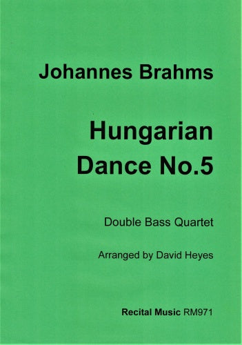 Johannes Brahms: Hungarian Dance No.5 (Double Bass Quartet)