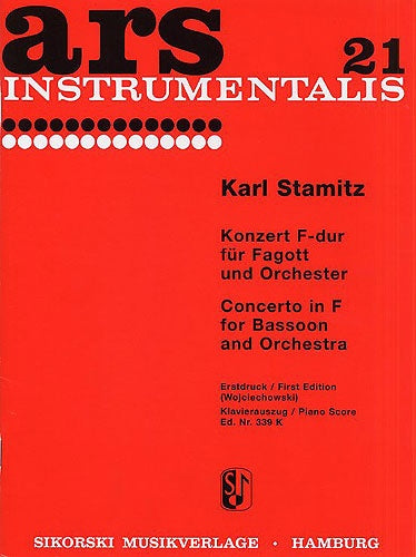 Carl Stamitz: Bassoon Concerto in F major (Piano Reduction)