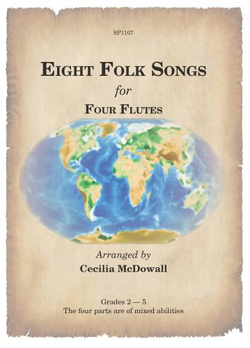 Eight Folk Songs for Four Flutes Flute quartet