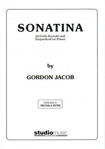 Gordon Jacob: Sonatina (Treble Recorder & Piano)