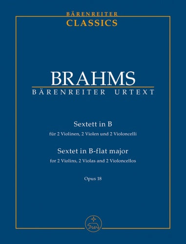 String Sextet in Bb major Op.18 (Urtext) Study Score