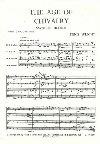 Wright: The Age Of Chivalry (Trombone Quartet)
