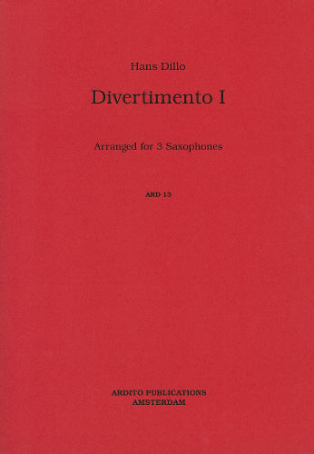 Dillo: Divertimento - 2 alto and tenor sax (Saxophone Trio)