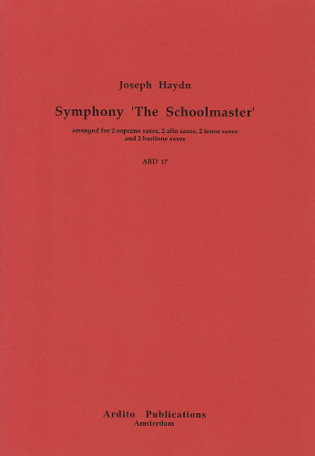 Haydn: Symphony No 75 (wrongly titled 'Schoolmaster')! (Saxophone Ensemble)