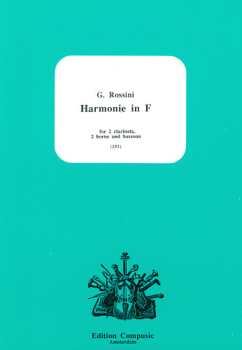 Rossini: Harmonie in F for 2 clars, 2 horns and bassoon