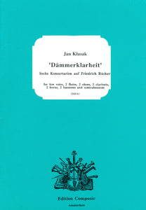 Klusak: Dammerklarheit - low voice, wind ensemble