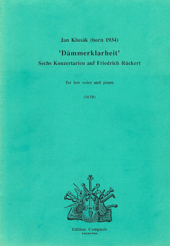 Klusak: Dammerklarheit - Vocal Score Only (Wind Ensemble)