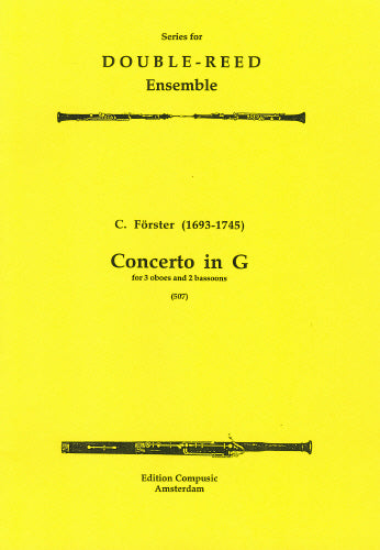 Forster: Concerto in G - 3 oboes, 2 bassoons (Wind Ensemble)