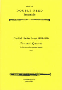 Lange: Pastoral Quartet - 2 oboes, 2 english horns (Wind Ensemble)
