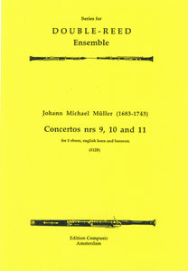 Muller: Three Concertos Nos 9, 10 an - 3 oboes, english horn, bassoon